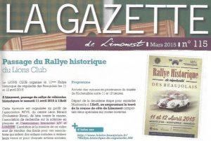 Rallye Historique- Liv et Lumière