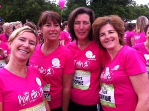 Béatrice, Christine, Sophie et Dominique, Courir pour Elles, Domaine Lacroix-Laval