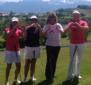 Valérie et l'équipe féminine du golf d'Eseiry, Beaujolais