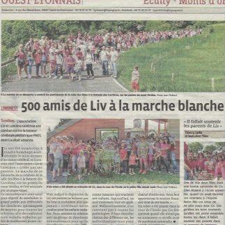 Liv et lumiere Ouest Lyonnais la marche blanche 10 Mai 2015