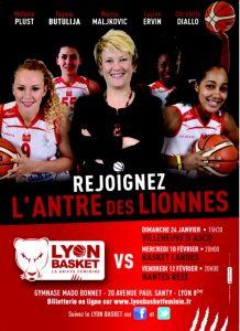 Basket Lyon féminin- liv et lumiere